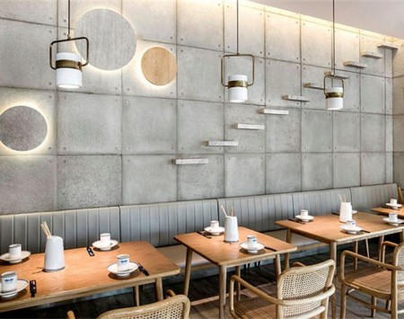 卅海日式串串餐厅装修设计效果图