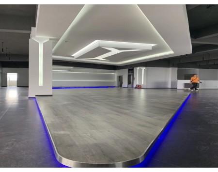 苏州友隆橡塑办公室展厅/餐厅装修