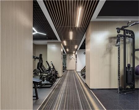 辛巴健身会所室内空间装修设计效果图