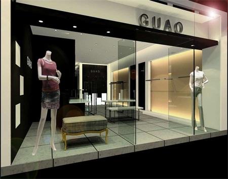 GUAO品牌服装店装修设计效果图
