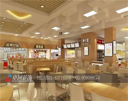 合肥美食广场餐饮店装修设计效果图