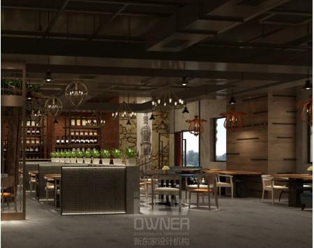 成都西环广场私房菜馆设计