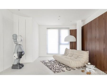 保利湖心岛128平米四居室日式风格装修效果图